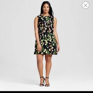 Victoria Beckham flower dress 2x